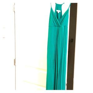 Green maxi, dress up or down!